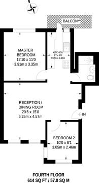 Large floorplan for Eamont Street, St John's Wood, NW8