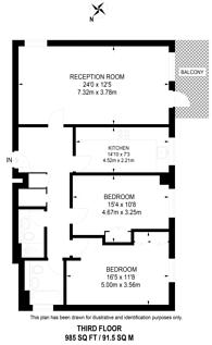 Large floorplan for West Putney, West Putney, SW15