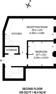Large floorplan for Britannia Street, King's Cross, WC1X