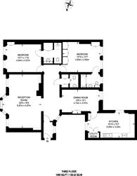 Large floorplan for Coleherne Court, Chelsea, SW5