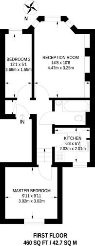 Large floorplan for Tregothnan Road, Clapham North, SW9