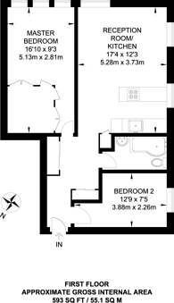 Large floorplan for Courtenay Mews, Walthamstow, E17