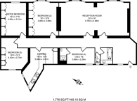 Large floorplan for Carlisle Place, Westminster, SW1P