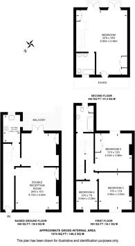 Large floorplan for Walham Grove, Fulham, SW6
