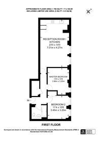 Large floorplan for High Holborn, Bloomsbury, WC1V