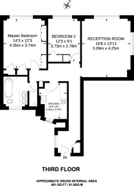 Large floorplan for Troy Court, Kensington High Street, Kensington, W8