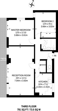 Large floorplan for Ivy Court, Lee Road, Blackheath, SE3