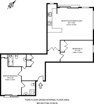 Large floorplan for Baron Street, Angel, N1
