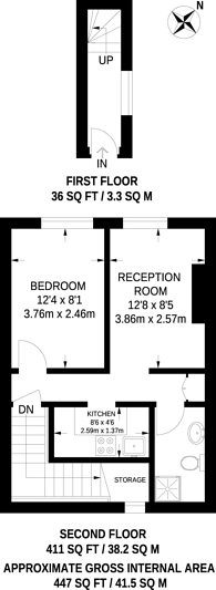 Large floorplan for Streatham Road, Tooting, CR4