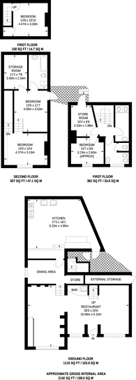Large floorplan for Park Street, Guildford, GU1