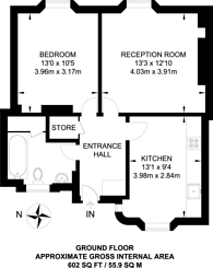 Large floorplan for Wedgwood House, Waterloo, SE11