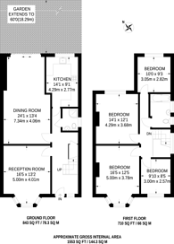 Large floorplan for Guildersfield Road, Streatham Common, SW16