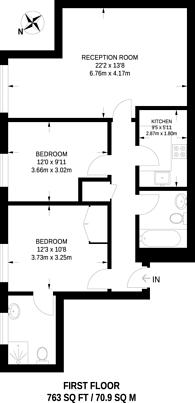 Large floorplan for The Grange, Bermondsey, SE1