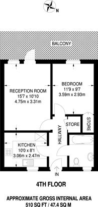 Large floorplan for Contessa Court, Isle Of Dogs, E14