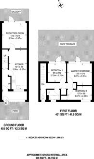 Large floorplan for Wychwood Way, Crystal Palace, SE19