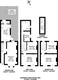 Large floorplan for Dalyell Road, Brixton, SW9