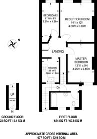 Large floorplan for London Road, Mitcham, CR4
