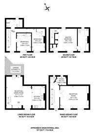 Large floorplan for Westmoreland Terrace, Pimlico, SW1V