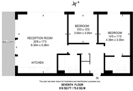 Large floorplan for Pump House Crescent, Kew Bridge, TW8