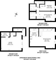 Large floorplan for Princes Gate Mews, South Kensington, SW7