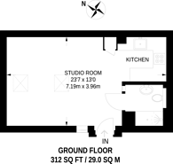 Large floorplan for Wilmot Place, Camden, NW1