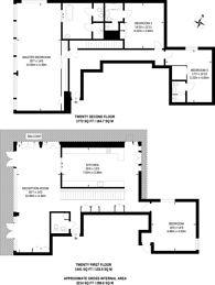 Large floorplan for Berkley Tower, Canary Wharf, E14