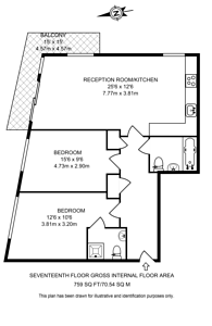 Large floorplan for Spencer Way, Shadwell, E1