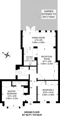 Large floorplan for Dafforne Road, Tooting Bec, SW17
