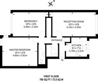 Large floorplan for Chandos Way, Golders Green, NW11