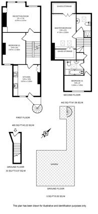 Large floorplan for Rosebury Road, Sands End, SW6