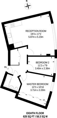 Large floorplan for St George Wharf, Vauxhall, SW8