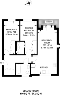 Large floorplan for Valley Road, Streatham, SW16