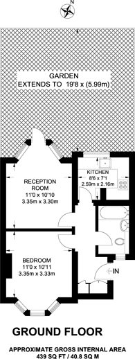 Large floorplan for Kingston Road, Wimbledon, SW19