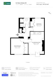 Large floorplan for St Peters Street, Islington, N1