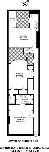 Large floorplan for Draycott Place, Chelsea, SW3