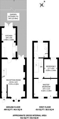 Large floorplan for Belmont Road, South Norwood, SE25