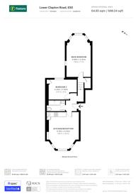 Large floorplan for Clapton Pond, Lower Clapton, E5