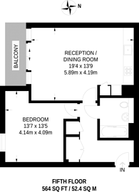 Large floorplan for Kew Bridge West, Kew Bridge, TW8