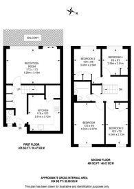 Large floorplan for Dale Court, Kingston, KT2