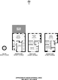 Large floorplan for Barons Court Road, Barons Court, W14