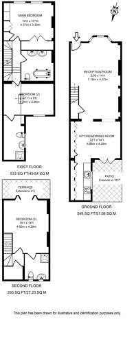 Large floorplan for Novello Street, Parsons Green, SW6