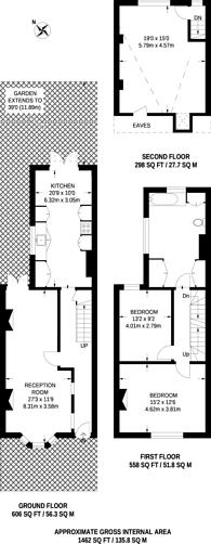 Large floorplan for Heron Road, St Margarets, TW1