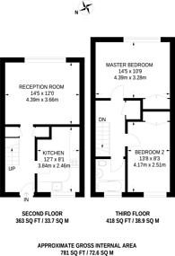 Large floorplan for Edgar Road, Hounslow, TW4