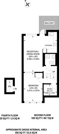 Large floorplan for Henry Wise House, SW1V, Pimlico, SW1V