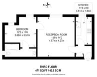 Large floorplan for Wavertree Court, Streatham Hill, SW2