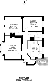 Large floorplan for Murdoch House, Canada Water, SE16