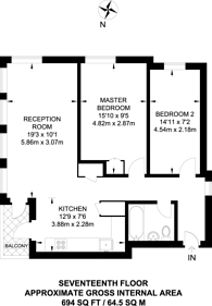 Large floorplan for Abbey Road, West Hampstead, NW6