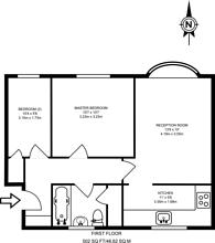 Large floorplan for Ashdown Way, Balham, SW17