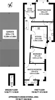 Large floorplan for Neville Road, Forest Gate, E7