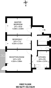 Large floorplan for Varndell Street, Regent's Park, NW1